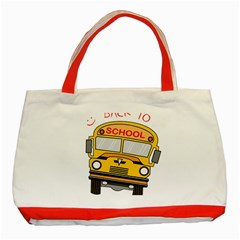 Back To School   School Bus Classic Tote Bag (red) by Valentinaart