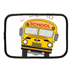 Back To School   School Bus Netbook Case (medium)  by Valentinaart