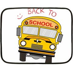 Back To School   School Bus Fleece Blanket (mini) by Valentinaart
