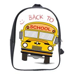 Back To School   School Bus School Bag (xl) by Valentinaart