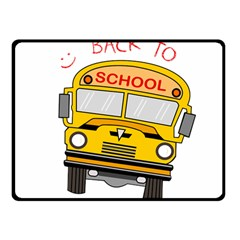 Back To School   School Bus Double Sided Fleece Blanket (small)  by Valentinaart