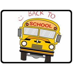 Back To School   School Bus Double Sided Fleece Blanket (large)  by Valentinaart