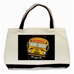 Back To School   School Bus Basic Tote Bag (two Sides) by Valentinaart