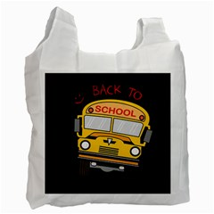 Back To School   School Bus Recycle Bag (two Side)  by Valentinaart