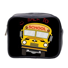 Back To School   School Bus Mini Toiletries Bag 2 Side by Valentinaart