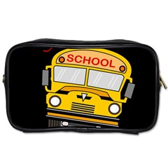 Back To School   School Bus Toiletries Bags 2 Side by Valentinaart