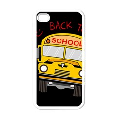 Back To School   School Bus Apple Iphone 4 Case (white) by Valentinaart