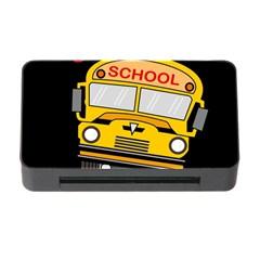 Back To School   School Bus Memory Card Reader With Cf by Valentinaart