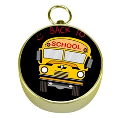 Back To School   School Bus Gold Compasses