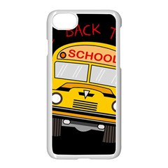 Back To School   School Bus Apple Iphone 7 Seamless Case (white) by Valentinaart