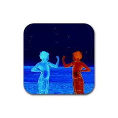Space Boys  Rubber Coaster (square)  by Valentinaart
