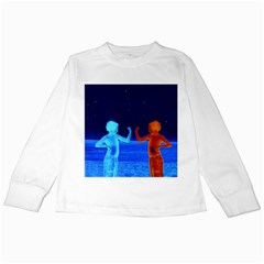 Space Boys  Kids Long Sleeve T Shirts by Valentinaart