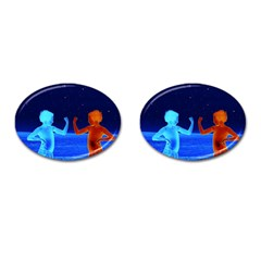 Space Boys  Cufflinks (oval) by Valentinaart