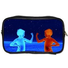 Space Boys  Toiletries Bags 2 Side by Valentinaart