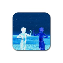 Space Boys  Rubber Square Coaster (4 Pack)  by Valentinaart