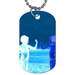 Space Boys  Dog Tag (two Sides) by Valentinaart