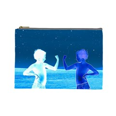 Space Boys  Cosmetic Bag (large)  by Valentinaart
