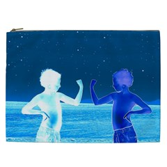 Space Boys  Cosmetic Bag (xxl)  by Valentinaart
