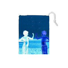 Space Boys  Drawstring Pouches (small)  by Valentinaart