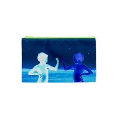 Space Boys  Cosmetic Bag (xs) by Valentinaart