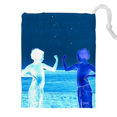 Space Boys  Drawstring Pouches (xxl) by Valentinaart
