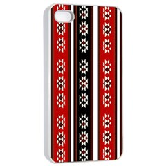 Folklore Pattern Apple Iphone 4/4s Seamless Case (white) by Valentinaart