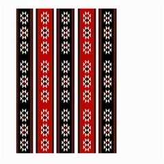 Folklore Pattern Large Garden Flag (two Sides) by Valentinaart