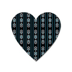 Folklore Pattern Heart Magnet by Valentinaart