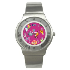 Aloha   Summer Fun 1 Stainless Steel Watch by MoreColorsinLife