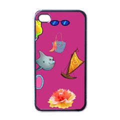 Aloha   Summer Fun 1 Apple Iphone 4 Case (black) by MoreColorsinLife