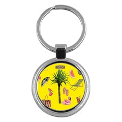 Aloha   Summer Fun 2 Key Chains (round)  by MoreColorsinLife