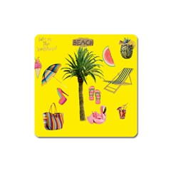 Aloha   Summer Fun 2 Square Magnet by MoreColorsinLife