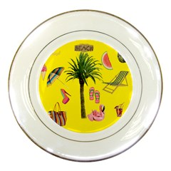 Aloha   Summer Fun 2 Porcelain Plates by MoreColorsinLife