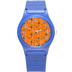 Aloha   Summer Fun 2c Round Plastic Sport Watch (s) by MoreColorsinLife