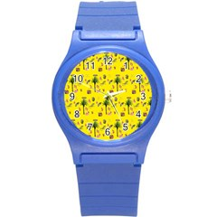 Aloha   Summer Fun 2b Round Plastic Sport Watch (s) by MoreColorsinLife
