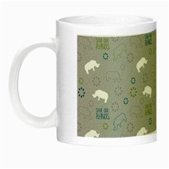 Shave Our Rhinos Animals Monster Night Luminous Mugs by Mariart