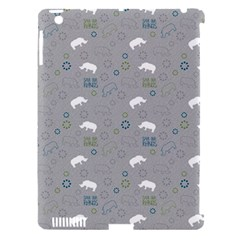 Shave Our Rhinos Animals Monster Apple Ipad 3/4 Hardshell Case (compatible With Smart Cover) by Mariart