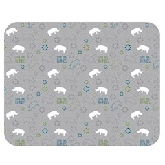 Shave Our Rhinos Animals Monster Double Sided Flano Blanket (medium)  by Mariart