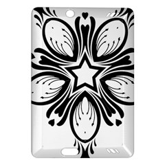 Star Sunflower Flower Floral Black Amazon Kindle Fire Hd (2013) Hardshell Case by Mariart
