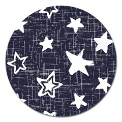 Star Space Line Blue Art Cute Kids Magnet 5  (round) by Mariart