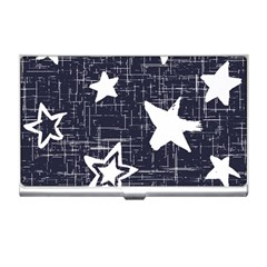 Star Space Line Blue Art Cute Kids Business Card Holders by Mariart