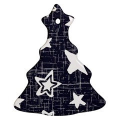 Star Space Line Blue Art Cute Kids Ornament (christmas Tree)  by Mariart