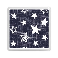 Star Space Line Blue Art Cute Kids Memory Card Reader (square)  by Mariart