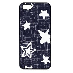 Star Space Line Blue Art Cute Kids Apple Iphone 5 Seamless Case (black) by Mariart