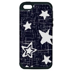 Star Space Line Blue Art Cute Kids Apple Iphone 5 Hardshell Case (pc+silicone) by Mariart