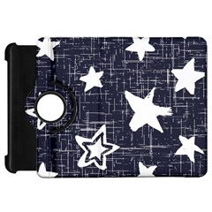 Star Space Line Blue Art Cute Kids Kindle Fire Hd 7  by Mariart