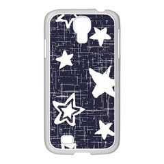 Star Space Line Blue Art Cute Kids Samsung Galaxy S4 I9500/ I9505 Case (white) by Mariart