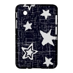Star Space Line Blue Art Cute Kids Samsung Galaxy Tab 2 (7 ) P3100 Hardshell Case  by Mariart