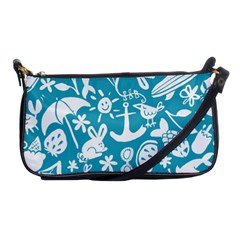 Summer Icons Toss Pattern Shoulder Clutch Bags by Mariart