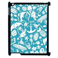 Summer Icons Toss Pattern Apple Ipad 2 Case (black) by Mariart